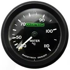 Racetech Water Temperature Gauge Mechanical Backlit With 4ft Capilary