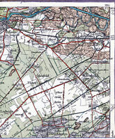 Neuburg Donau Karlshuld 1914 orig. Teilkarte/Ln. Berg im Gau Weichering Brunnen