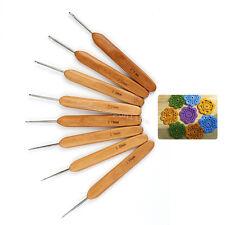20pcs Bamboo Handle Aluminum Crochet Hook Knitting Knit Needle Weave Yarn Set