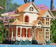 3D wooden puzzle dollhouse doll wood House Hawaii villa kit