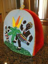 WONDERFUL Handmade Beaded Fully Lined Felt Tea Cozy w/ Native African Theme