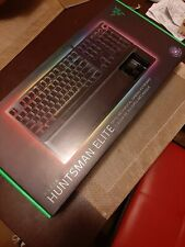 Razer Huntsman Elite Opto-Mechanical Switch Keyboard with Wrist Rest - Black (R…