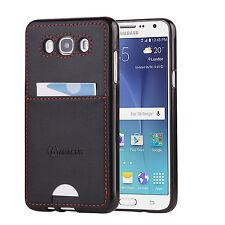 Black Slim Skin Case for Samsung Galaxy J7 Phone (2016) / with Back Pocket