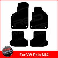 For VOLKSWAGEN VW POLO Mk3 1999-2003 Tailored Carpet Car Floor Mats BLACK