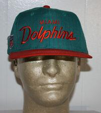 Vintage Deadstock Sports Specialties Miami Dolphins Script Snapback Hat Cap