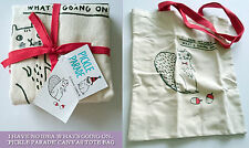 Tote Bag I HAVE NO IDEA WHAT'S... Pickle Parade CANVAS HOTCHPOTCH Squirrel Nuts