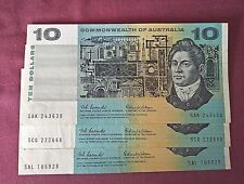 $10 Commonwealth of Australia Notes Coombs and Wilson