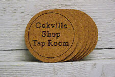 Cork coaster set of six personalized custom engraved text. Great gift.