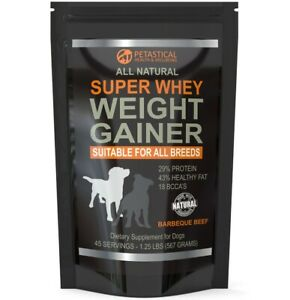 Petastical Weight Gainer For Dogs - Bully Breed Max Super Whey Protein Powder