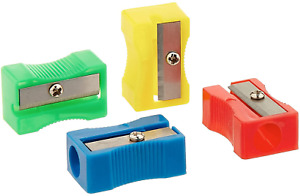 3x Pencil Sharpener UK Stock - Plasic Sharpeners - Fast & Free Postage