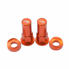 Tusk Rim Lock Nut / Spacer Kit Set Orange KTM 125 200 250 350 450 sx sxf xc xcf