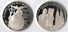 Medaglia Argento 925 Joannes Paulus PP. II Deutschland 1980 Fondo Specchio