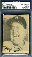 Mayo Smith Psa/dna Authenticated Signed Small Photo Autograph