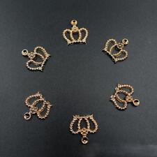 50pcs Wholesale DIY Gold Resin Crown Flatback Scrapbooking Craft Hair Accessory