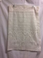 "Valance White Trees Houses Open Lace 35""x24 Country Traditional P4"