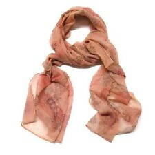 Faint Coral Pink Paisley Scarf Wrap Lightweight Spring Summer Fashion Woman Gift
