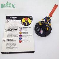 Heroclix X-Men Xavier's School set Cyclops #052 Super Rare figure w/card!