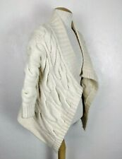 Calypso St. Barth Women's Cream Cable Knit Open Front Wool/Cashmere Cardigan XS