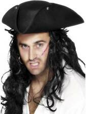 PIRATE TRICORN HAT, PIRATE FANCY DRESS, PIRATES, UNISEX
