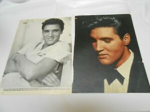 2 Rare Photos of Elvis Presley in sleeve 8 by 11 inches collectibles still 1958