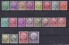 Gestempelte Deutsche Briefmarken des Saarland (1947-1959) aus Satz und Danzig, Memel, Saar