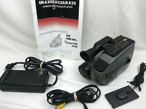 JVC GR-AX25U VHS-C ⚫ PLAYER or VIDEO TRANSFER ONLY ⚫ AC Adapter & Special Cable