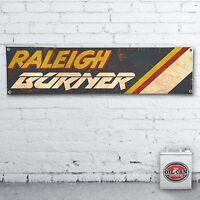 RALEIGH BURNER VINTAGE EFFECT Banner  –  heavy duty for workshop, garage,
