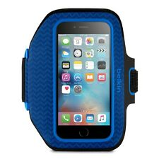 Belkin Sport-Fit Plus Armband iPhone 6 7 8 Sports Gym Jogging Running Case Blue