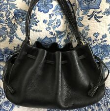 KATE SPADE New York LARGE LEATHER SATCHEL TOTE Shoulder Bag Silver Hardware