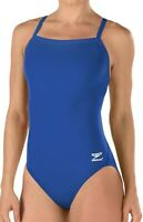Speedo Women's Swimwear Blue Size 14 Endurance Plus Cut Out One-Piece $69 #082