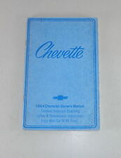 Owner's Manual / Betriebsanleitung Chevrolet Chevette Stand 1984