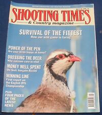 SHOOTING TIMES MAGAZINE JULY 4-10 1991 - SURVIVAL OF THE FITTEST