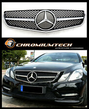 2009-13 Mercedes W207 C207 E Class Coupe Convertible Black/Chrome Grill AMG E63