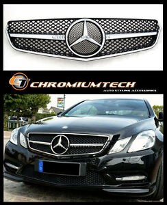 09-13 Mercedes W207 C207 E-Class Coupe Convertible Black/Chrome Grille AMG Look