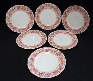 "Vintage Royal Albert Serena Dinner Plates x 6 10"""