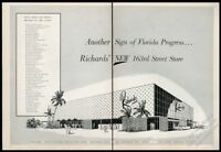 1957 Richards department store Miami Florida illustrated vintage print ad