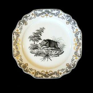 Beautiful Mottahedeh Du Paquier Vista Alegre, 1730 - 1740, Wild Boar Plate