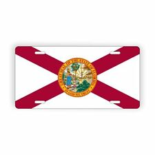 """Florida State Flag Vanity Licence Plate 6"""" x 12"""" Aluminum Plate"""