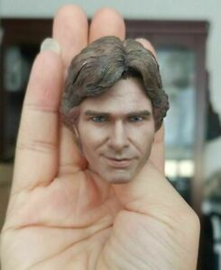 1/6 Star Wars Han Solo Harrison Ford Young Smiling Head Sculpt Soldier Model Toy