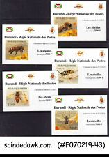BURUNDI - 2012  BEE INSECTS  - SET OF 5 DELUXE SHEETS MNH IMPERF
