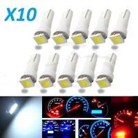 Ampoules T5 LED 5050 1SMD 168 W3W,Tableau de bord,compteur kilométrique,Blanc