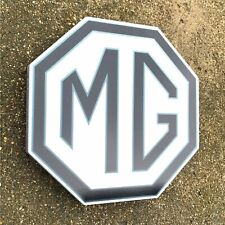 MG 1952-1962 BADGE LED ILLUMINATED LIGHT BOX SIGN GARAGE PETROL GAS & OIL MIDGET