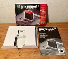 N64 - Nintendo 64 - Expansion Pak, Memory Pak, BOX, OVP+ MANUAL, Anleitung
