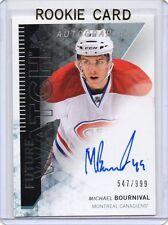 MICHAEL BOURNIVAL Canadiens 2013/14 SP Authentic Auto RC /999 Autograph Rookie
