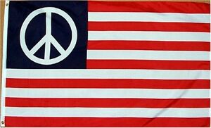 3x5 USA United States Peace Symbol Flag 3'x5' Banner Grommets fade resistant