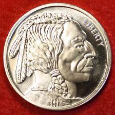 INDIAN/BUFFALO DESIGN 1 oz .999% SILVER ROUND BULLION COLLECTOR COIN GIFT