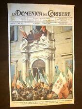 Copertina La Domenica del Corriere 1 dicembre 1918 Roma Re Vittorio Emanuele III