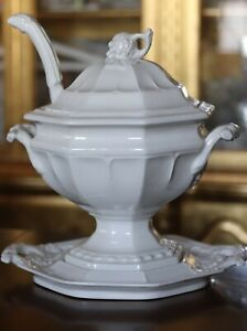 Vintage Red Cliff Soup Tureen Grape Design with Ladle and Underplate