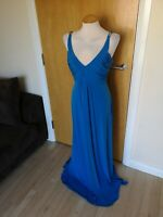 Ladies STAR JULIEN MCDONALD Dress Size 16 Teal Blue Long Maxi Stretch Party