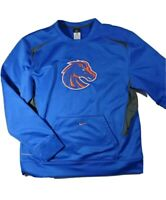 Nike mens boise state therma fit sweater without hood pockets large blue